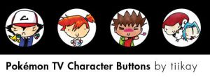 Pokemon Doodle Buttons - Anime by tiikay