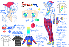 OC Reference Sheet: Shockatee by NIPPONkidd