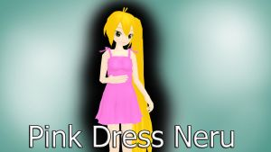 MMD Pink Dress Neru Download by MissingPixieSticks