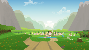Headphone Pony: Ponyville Still by ShiroPoint
