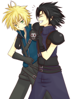 HS101: Cloud and Zack by ymirre