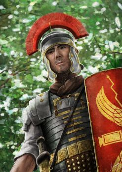 A Legionary in the forest by lathander1987