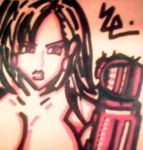 Tifa Charging Materia Stone Post-It by dark-es-will