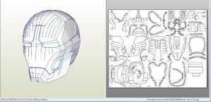 Iron Man Helmet Mark 43 42 pepakura by Gimpe
