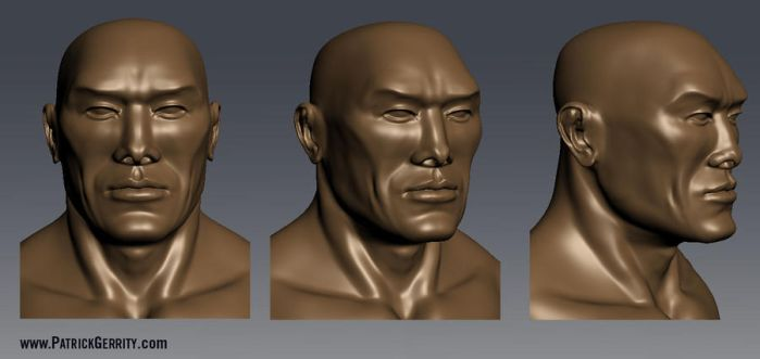 Head Sculpt Asian Guy by mebooky