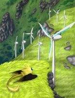 The Bandersnatch and the wind farm by LaSpliten