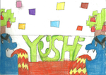 Yoshi's Island custom stage coloured by HyperactiveChaosgirl