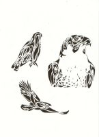 Tribal Birds by Cr8Insanity