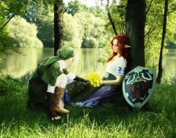 Malon and Link by sgorbissa