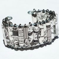 Comic Book Paper Bead Bracelet by Tanith-Rohe