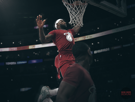 Wade to Lebron Off The Glass Left Handed Alley Oop by RafaelVicenteDesigns