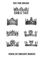 Pre-cut crowns .png stock images by BrianFP