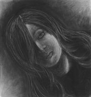 Charcoal portrait by PirateQueenErin