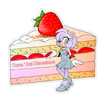 Comm. Food Sticker. Rena The Hedgehog by 13VOin