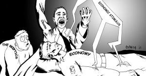 Obama, reviving the monster by Sapoman