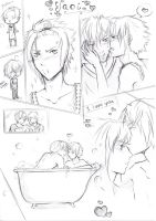 Yaoi sketch panels by AyanoNoHikari