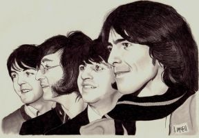 Beatles Portrait by amccall83