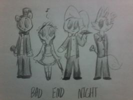 5 bad end nights at freddy's by Cookie-and-her-foxes
