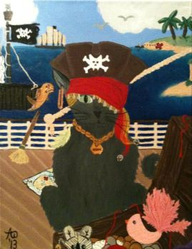 Cat Pirate Wade AKA Wade Can Haz Booty by AbendrothBlutjager