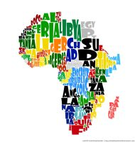 Africa Typography Map Concept by DeathFromAbove86