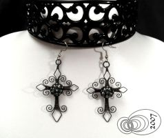 Cross Earrings by IMNIUM
