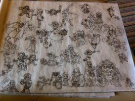 All SSBB Characters by chanchimi