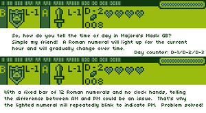Majora's Mask GB: How to Tell the Time of Day by BLUEamnesiac