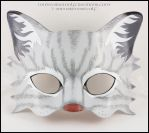 Gray Tabby Cat handmade leather mask by EirewolfCreations