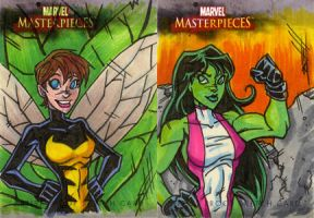 MM3 AP she-hulk and wasp by natelovett