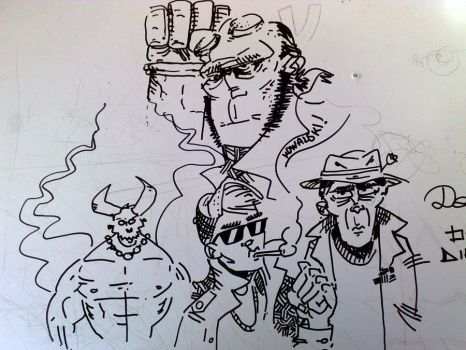 HellBoy and stuff by devilove
