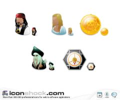 Pirates of the Caribbean Icons by Iconshock