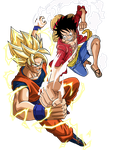 Goku VS Luffy by SaoDVD