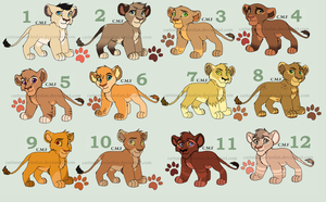 Lion Cub Adoptables ( Closed ) by Cartoonmoviesfan