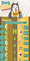 Dog Food Infographic -healthy fruits and vegetable by KarinMind