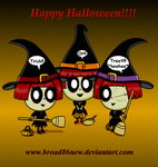Halloween Triplets by broad86new