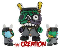 Dunny Monster : Hand Painted The Creation by zombiemonkie