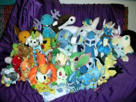 Pokemon Plush collection by Chochomaru