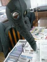 Plague Doctor Mask: Construction Day 4- Part 2 by Coderwhite