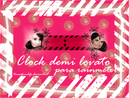 Clock demi lovato ( para rainmeter) by TimeOfOurLife