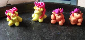 Apple Bloom and Scootaloo my little pony models by chaobreeder16