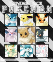 [Render Pack #1] Pack 9 Render Pokemon by stella-reina