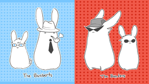 bunders and bunberts by oranges-lemons