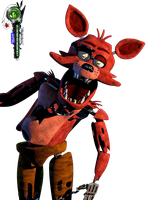 Five Nights at Freddy's:Foxy Sorprise PNG by OtakuRenders-Service