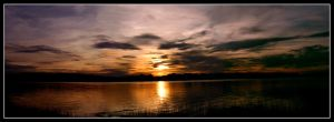 Dighton Sunset Pano by PyroPaul