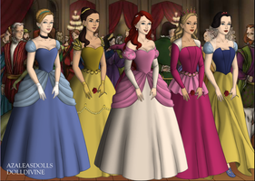Disney Princesses by menolikee