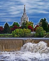 Idaho Falls Temple by clankeroo