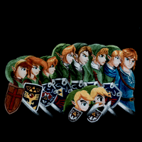 All The Heroes of Hyrule(Link) Doctor who style. by smokebomb12