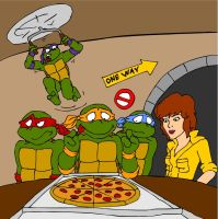 TMNT - Pizza Time by Neotomi