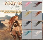 Windy #3 HAIR STOCK by Trisste-stocks