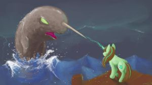 Request Number 1 - Daylight Darkle Vs. The Narwhal by tookles